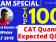 Top-100 CAT Questions and Answers PDF