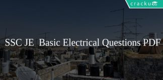 SSC JE Basic Electrical Questions PDF