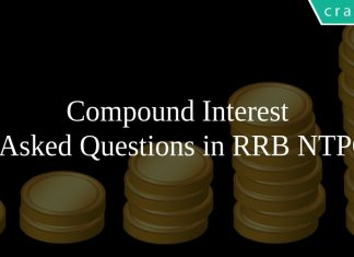 Compound Interest Asked Questions in RRB NTPC