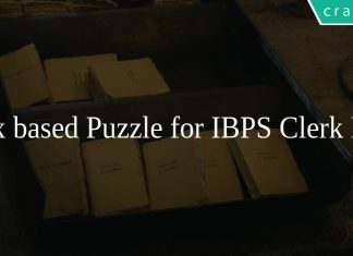 Box based Puzzle for IBPS Clerk PDF