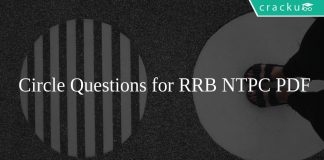 Circle Questions for RRB NTPC PDF