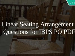 Linear Seating Arrangement Questions for IBPS PO PDF