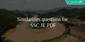 Similarities questions for SSC JE PDF