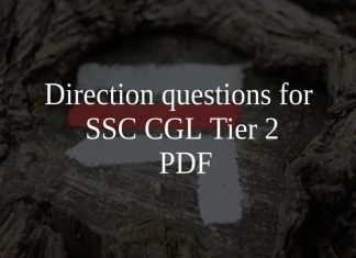 Direction questions for SSC CGL Tier 2 PDF