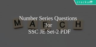 Number Series Questions for SSC JE Set-2 PDF