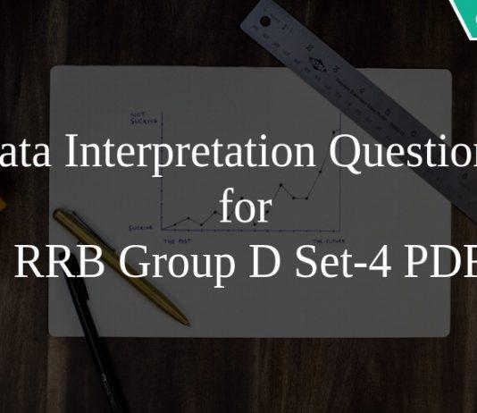 Data Interpretation Questions for RRB Group D Set-4 PDF