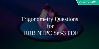 Trigonometry Questions for RRB NTPC Set-3 PDF