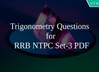 Trigonometry Questions for RRB NTPC Set-3 PDF