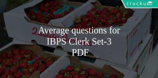 Average questions for IBPS Clerk Set-3 PDF