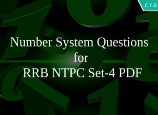 Number System Questions for RRB NTPC Set-4 PDF