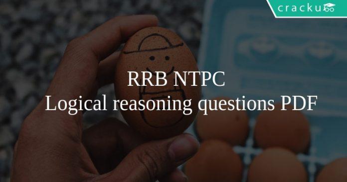 RRB NTPC Logical reasoning questions PDF