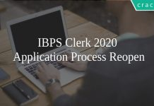 IBPS Clerk 2020 Application Process Reopen