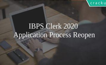 IBPS Clerk 2020 Application Process Reopen