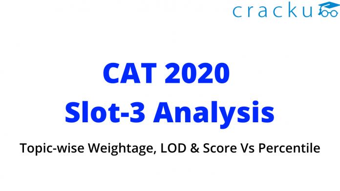 CAT 2020 slot-3 analysis