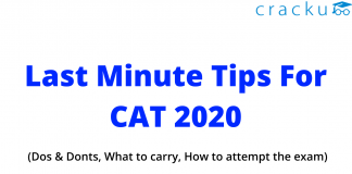 Last minute tips for CAT 2020