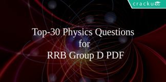 Top-30 Physics Questions for RRB Group D PDF