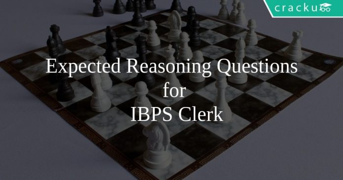 Expected Reasoning Questions for IBPS Clerk