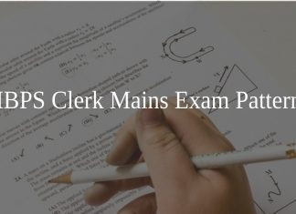 IBPS Clerk Mains Exam Pattern