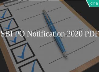 SBI PO Notification 2020 PDF