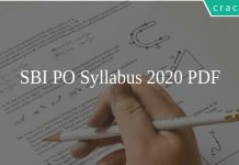 SBI PO Syllabus 2020 PDF