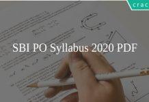 SBI PO Syllabus 2020 PDF