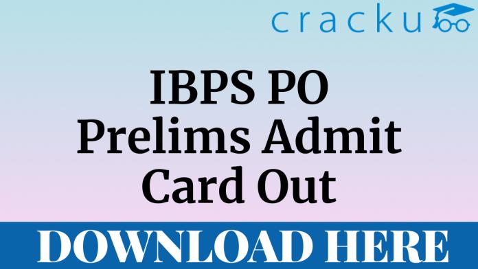 IBPS PO Prelims Admit Card
