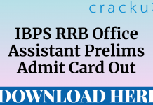 ibps rrb office assistant prelims admit card