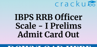 ibps rrb officer scale I prelims admit card