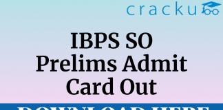 IBPS SO Prelims Admit Card