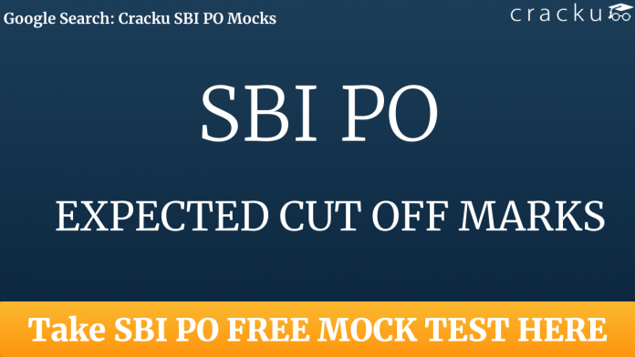 sbi po 2020 expected cut off marks