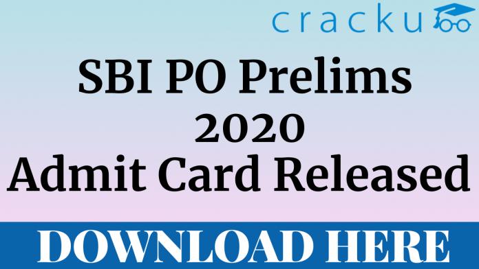 SBI PO Prelims 2020 Admit Card