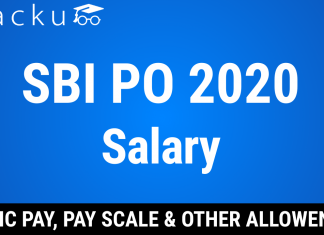 sbi po take home salary 2020