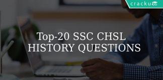 Top-20 SSC CHSL history questions