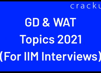 GDPI and WAT Topics for IIM Interview 2021