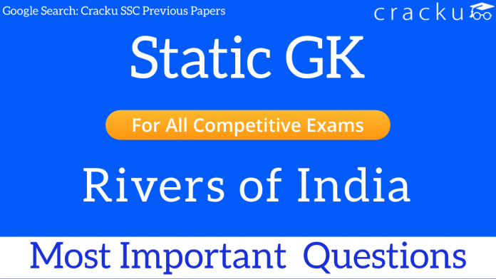 important gk questions on rivers of india