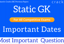 gk questions on Important Dates