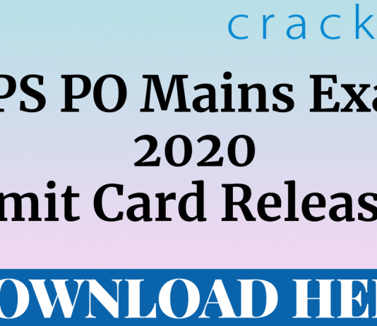 ibps po 2020 mains admit card out