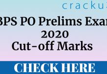 IBPS PO Prelims 2020 Cut-Off
