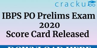 ibps po prelims 2020 score card