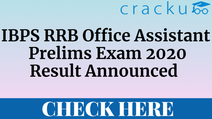 IBPS RRB Office Assistant 2020 prelims result