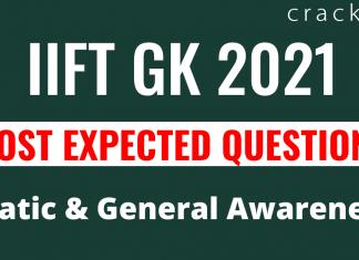 IIFT GK Questions