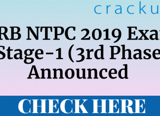 RRB NTPC 2019 3rd Phase exam