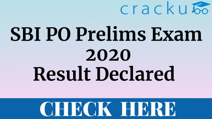 SBI PO Prelims 2020 Result