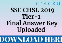 ssc chsl 2019 tier-1 final answer key