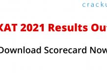 Download XAT 2021 scorecard