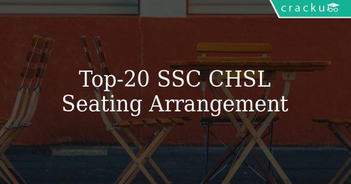 Top 20 SSC CHSL Seating Arrangement Questions