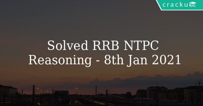 Solved RRB NTPC Reasoning