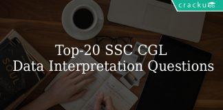 Top 20 SSC CGL Data Interpretation Questions