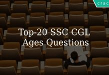 Top 20 SSC CGL Ages Questions