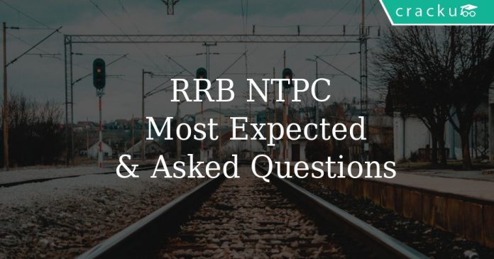 rrb ntpc most expected & asked questions